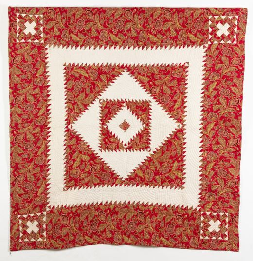 Turkey Red Sawtooth Medallion Quilt