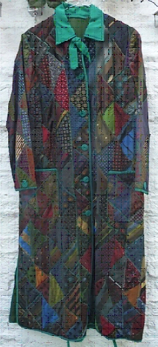 Silk Ties Patchwork Dressing Gown