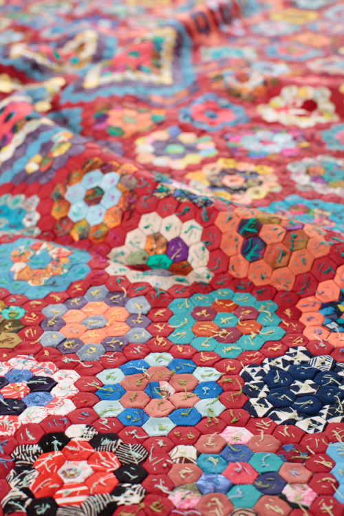 Hexagons Coverlet by Mary Wakeling