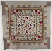Applique frame patchwork