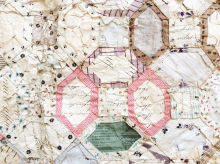Victorian Mosaic Patchwork with papers intact